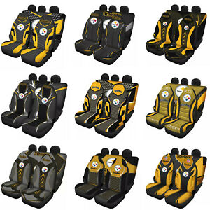 Pittsburgh Steelers Car Seat Covers 5 Seats Full Set Cushion Protector Universal