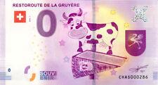 SUISSE Avry-devant-Pont, Restoroute, N° de la 3ème, 2018, Billet 0 € Souvenir