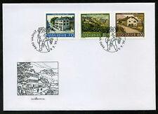 Liechtenstein 1999 FDC Mi. 1212-1214 Liechtensteiner Maler Gemälde Eugen Verling