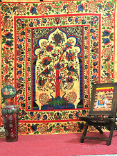 LARGE cotton Tree of Life tapestry hippie wall hanging indian bedding bedspread