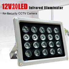 20 LEDs Infrared illuminator CCTV IR Light Night Vision 100M 12V Lamp Fit Camera