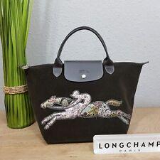 Longchamp Victoire Short modele depose Baumwoll/Cord mit Reiterlogo braun