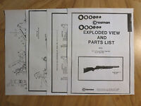 Crosman Model 140 Two O-Ring Seal Kits + Exploded View & Parts List + Seal Guide