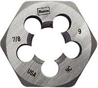 "Irwin Hanson 8461 Die Threading 7/8""-9 1 13/16""NC Hex Hexagon Repair Tool HCS"