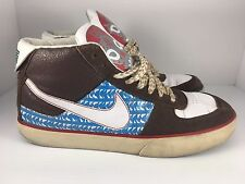 afc4fe34cf15 Nike Maurk Mogan Mid 3 Men US 10.5 Brown + White Leather Sneakers (317496-