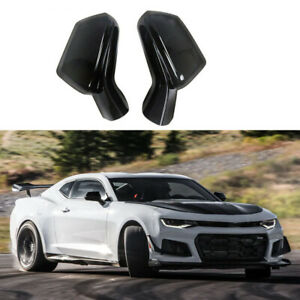 For 2016 2017 2018 Chevy Camaro SS RS ZL1 Side View Mirror Covers Gloss Black