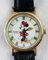 Vintage Pulsar Disney Minnie Mouse Quartz Watch New Battery! Works moving arms