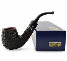 "NEW Briar Wood Tobacco Smoking Pipe bent ""Brandy - Rustic"" for filter, ~ 5-1/4"""