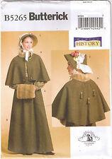 Victorian Dickens Fair Cape Skirt Bonnet Muff Costume Sewing Pattern 6 8 10 12