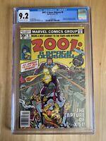 2001: A Space Odyssey #8  CGC 9.2 O-WP NM-  Marvel Kirby 1st app Machine Man