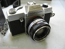 VINTAGE BESELER TOPCON AUTO 100 35MM CAMERA WITH CASE 53MM 1:2 LENS