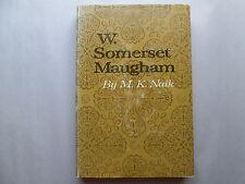 W. SOMERSET MAUGHAM by M. K. Naik 1966 HCDJ University of Oklahoma Press 1st Ed.