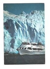 PRINCE WILLIAM SOUND AK Columbia Glacier Queen II Boat Postcard Alaska PC