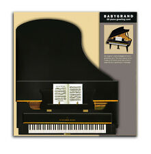 Grand piano 3D stand-up greeting card musician birthday celebration