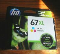 HP 67XL High Yield Tri-Color Original Ink Cartridge OEM Genuine EXP 07/2022