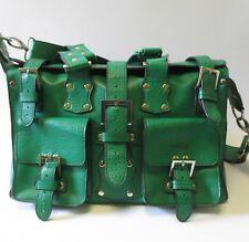 Matt & Nat Women's Vegan Leather Kelly Green Satchel Handbag w/ Shoulder Strap