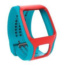 NEW TomTom Comfort Strap BLUE/RED for Runner/Multi-Sport GPS Watch 9URA.001.01