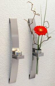 Chg 3342-00 Wall-Mounted Tea Light Flower Holder Pack 2 Approx. 39.5 X 5.0 X
