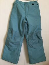 Lands End Ski Snow Pants Pastel Robin Blue Girls size 8 Insulated Lined