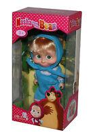Mascha und der Bär-Masha and The Bear-Mascha-Puppe mit Kleid blau-12cm-neu-OVP