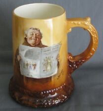 Antique Ceramic Art Company Belleek Monk Mug 1902 Hand Painted Artist Signed