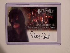 Harry Potter-POA-Updat-Authentic-Signature-Autograph Card-Peter Best-Executioner