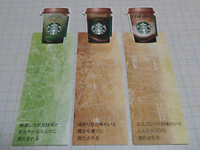 Starbucks Japan Bookmark 3types