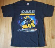 New CASE tractor shirt M black full throttle shovel CAT backhoe loader bulldozer
