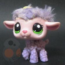 Littlest Pet Shop LPS Figure Toy #2621 FuzZy Fluffy Lavender Lamb Sheep