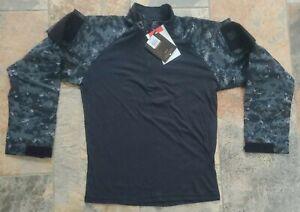 Tru Spec Men's Med Regular 1/4 Zip Midnight Digital Combat Long Sleeve Shirt