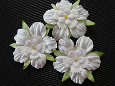 20 x 45mm WHITE Mulberry Paper FLOWERS MPFF41::: Paper Crafts Scrapbooks Cards