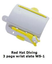 Scuba diving Triple wrist slate with pencil . WS-1 Red Hat Diving