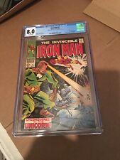 1968 Marvel Comic  #4 The Invincible Iron Man #4 Unicorn CGC 8.0 DOUBLE COVER