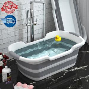 Portable Bathtub Foldable Large Indoor Water Tub Shrinking Shower Baby Pet Dog