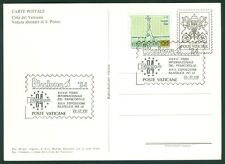 Vatican City Philatelic Show Postcard: Europa 84