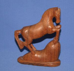 Vitage Wood Hand Carved Horse Figurine