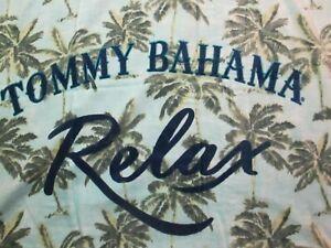 "Tommy Bahama Home Beach Towel..""RELAX"" Aqua palm trees....NEW"