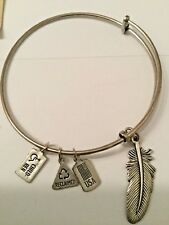 Spiritual Ascension Freedom Bracelet New Wind & Fire Silvertone Feather