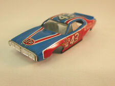 TYCO #8937 LIGHT BLUE/RED/WHITE #43 STP DODGE CHARGER SHELL ~ VG COND ~ RARE