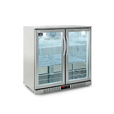 2 Door Stainless Steel Under Bench Double Door Beer / Bar Fridge - LG Compressor