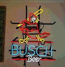 """New St. Louis Cardinals Busch Beer Neon Light Sign 20""""x16"""" Lamp Bar Glass"""