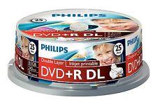 Philips DVD+R DL 240 Min 8.5GB 8x Geschwindigkeit Inkjet Bedruckbar Rohling
