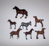 JOB LOT OF VINTAGE BRITAINS & OTHER MAKERS LEAD HORSE FOAL