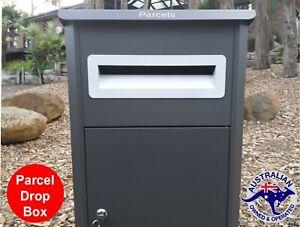 PARCEL LETTERBOX MAIL DROP BOX MAILBOX POST MONUMENT GREY PARCELBOX PIER NEW