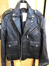 100% auth. DSQUARED2 BIKER LEATHER JACKET. Original Price $2980