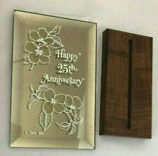 "Glass Mirror 4X6"" Sign: Happy 25Th Anniversary"