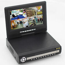 Display CCTV 4 Channel DVR HDMI Outdoor Home Video Surveillance Security System
