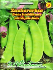 Zuckererbse 'Graue Buntblühende' mittelspät, 65-75 cm hoch 480062