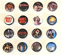 "CHOOSE: Vintage Rock 'N Roll 1.25"" Pinback Pin Button * Combine Shipping!"