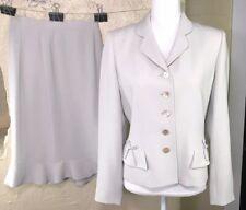 Albert Nipon Womens Size 6 Gray Skirt Suit 2 Piece